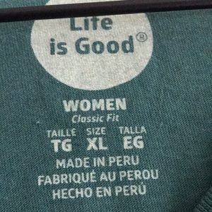Life Is Good Tops - NWOT Life Is Good Women's Long Sleeve Size XL